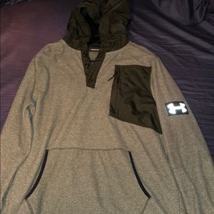 Under Armor Hooded Quarter Button Pullover